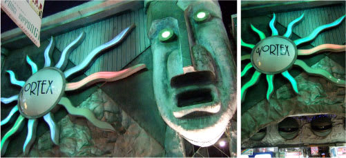 モアイの顔のインパクト